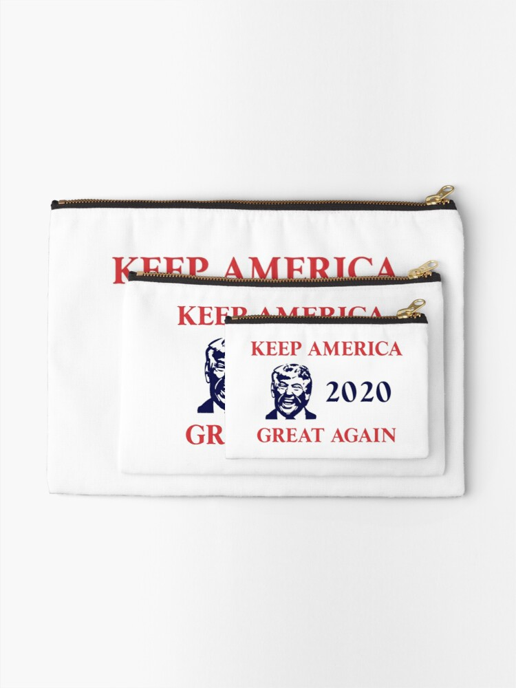 Alternate view of Trump 2020 Keep America Great Again. Gifts Zipper Pouch