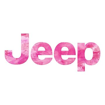 Jeep Pink Watercolor by livpaigedesigns