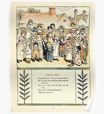 Marigold Garden Pictures and Rhymes Kate Grenaway 1900 0009 Street Show Poster
