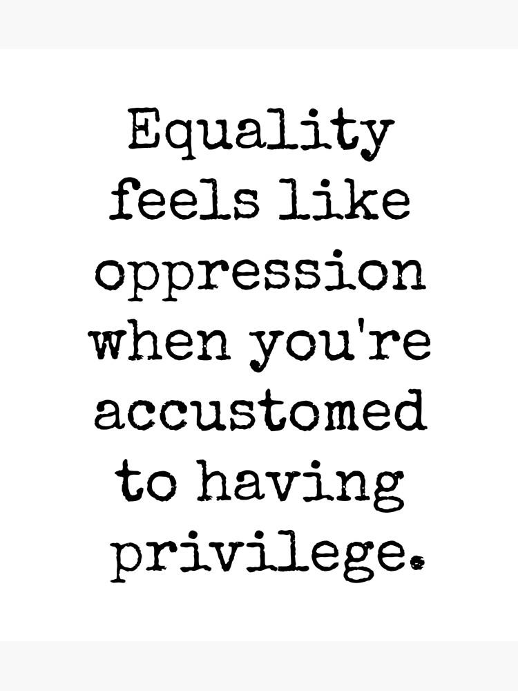 EQUALITY OPPRESSION PRIVILEGE by herizon