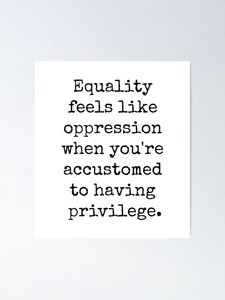 Alternate view of EQUALITY OPPRESSION PRIVILEGE Poster