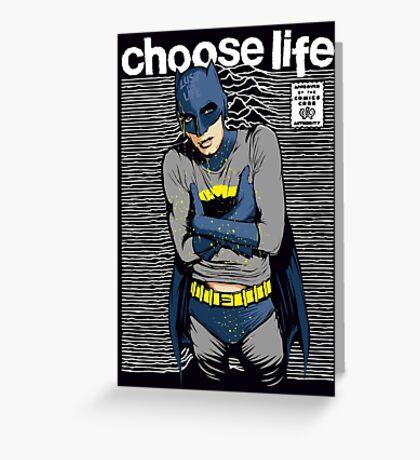 Choose Life Greeting Card