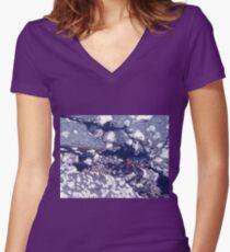 Sun Tanning Women's Fitted V-Neck T-Shirt