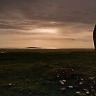 Berneray: Clach Mhor Standing Stone by Kasia-D