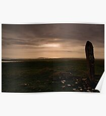 Berneray: Clach Mhor Standing Stone Poster
