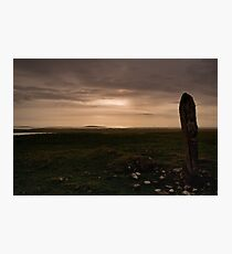 Berneray: Clach Mhor Standing Stone Photographic Print