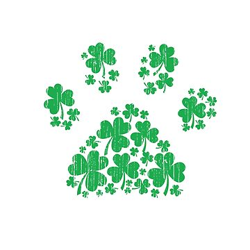 One Lucky Pug Mama - St Patrick Day Paw Dog Lover Gift by EcoKeeps