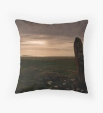 Berneray: Clach Mhor Standing Stone Throw Pillow