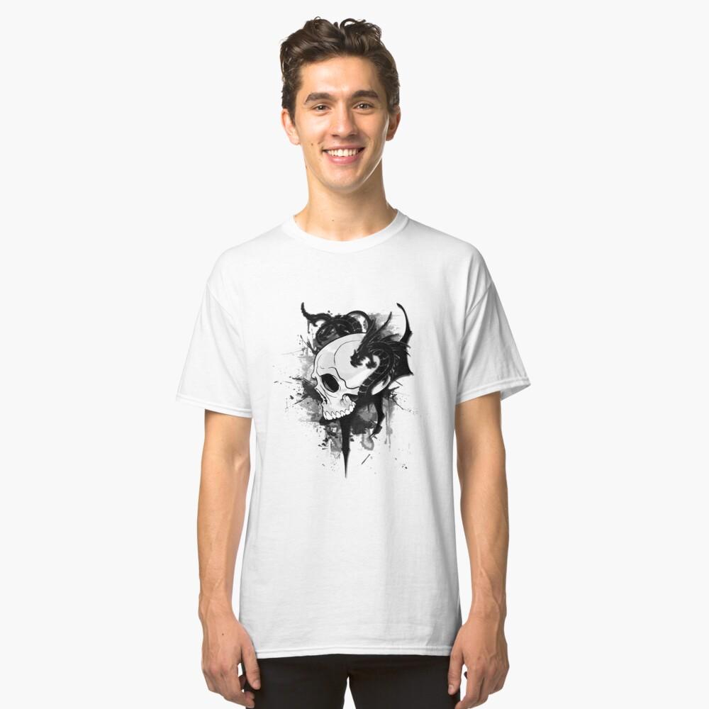 dragons on skull  tattoo Classic T-Shirt Front