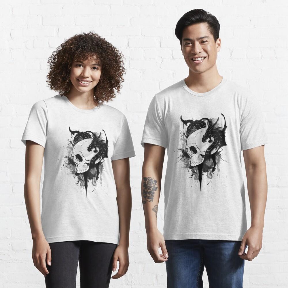 dragons on skull  tattoo Essential T-Shirt