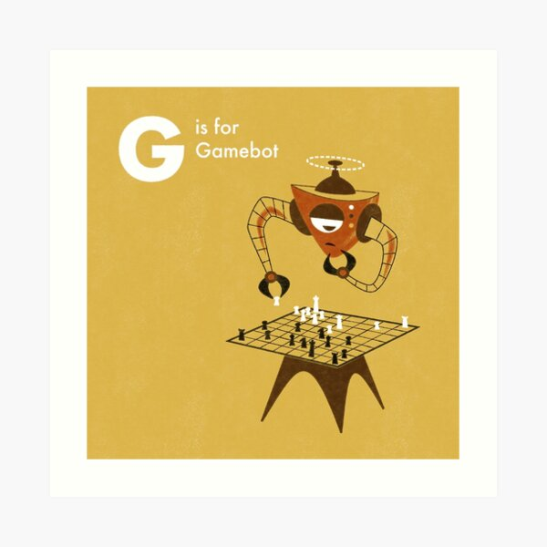 G is for Gamebot Art Print
