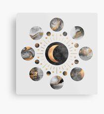 Moons Metal Print