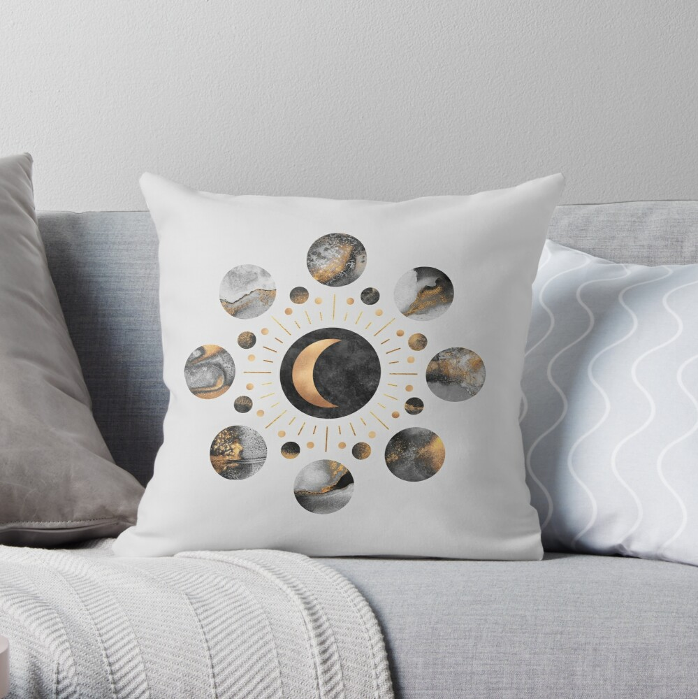 Moons Throw Pillow