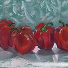 Red Bell Peppers, Paprika Pepper, Capsicum by clipsocallipso