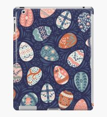 Floral Easter Eggs in Blue + Pink iPad Case/Skin