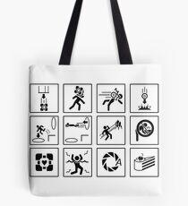 Portal-Zeichen Tote Bag