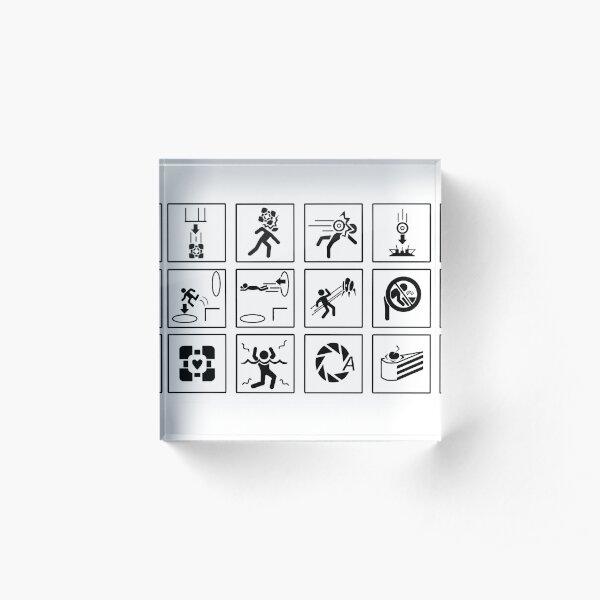 Portal Signs Acrylic Block