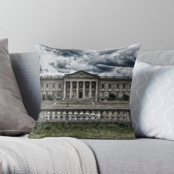 Lynnewood Hall Mansion Throw Pillow
