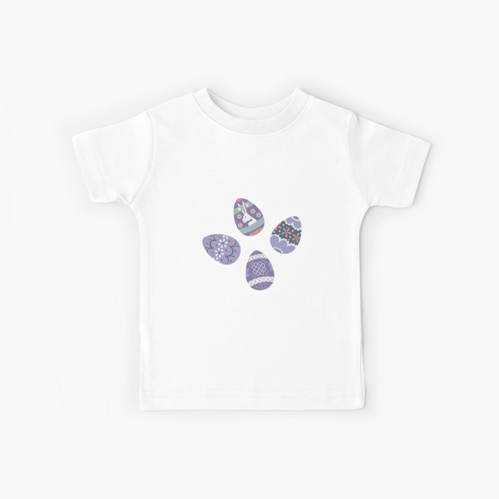 Floral Easter Eggs in Coral + Purple Kids T-Shirt