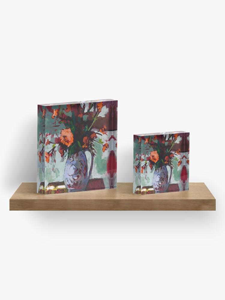 Alternate view of Marigolds Gone Wild Acrylic Block