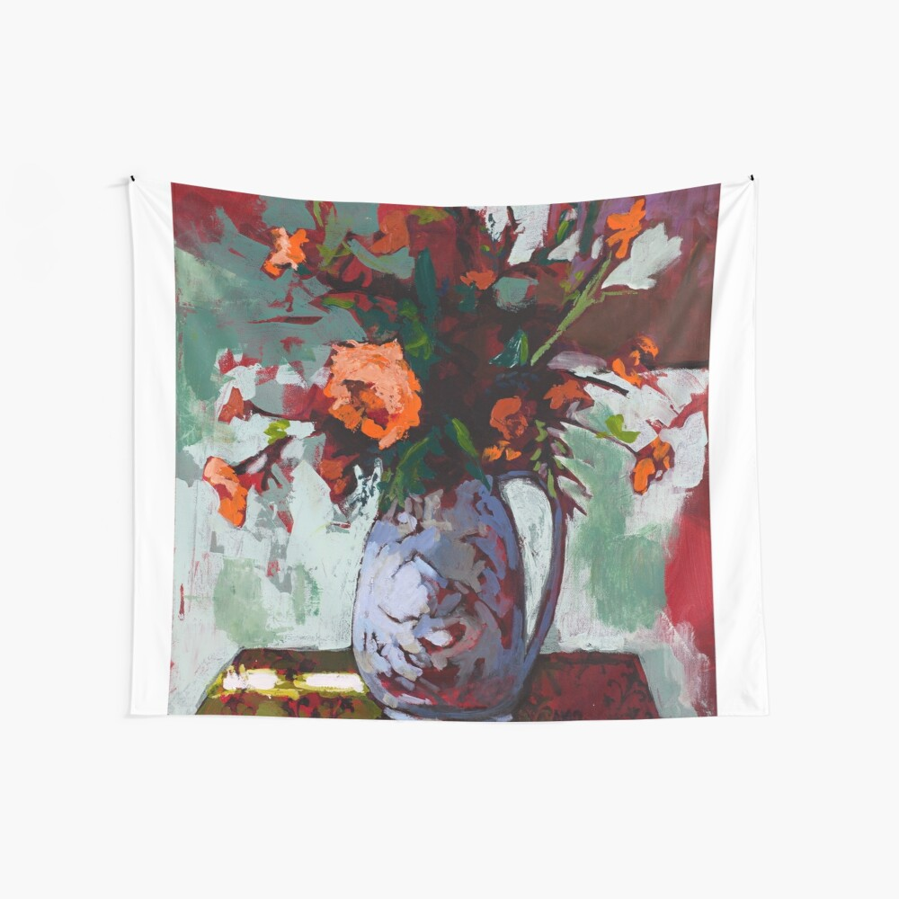 Marigolds Gone Wild Wall Tapestry