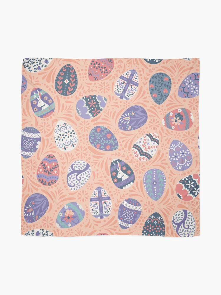 Alternate view of Floral Easter Eggs in Coral + Purple Scarf