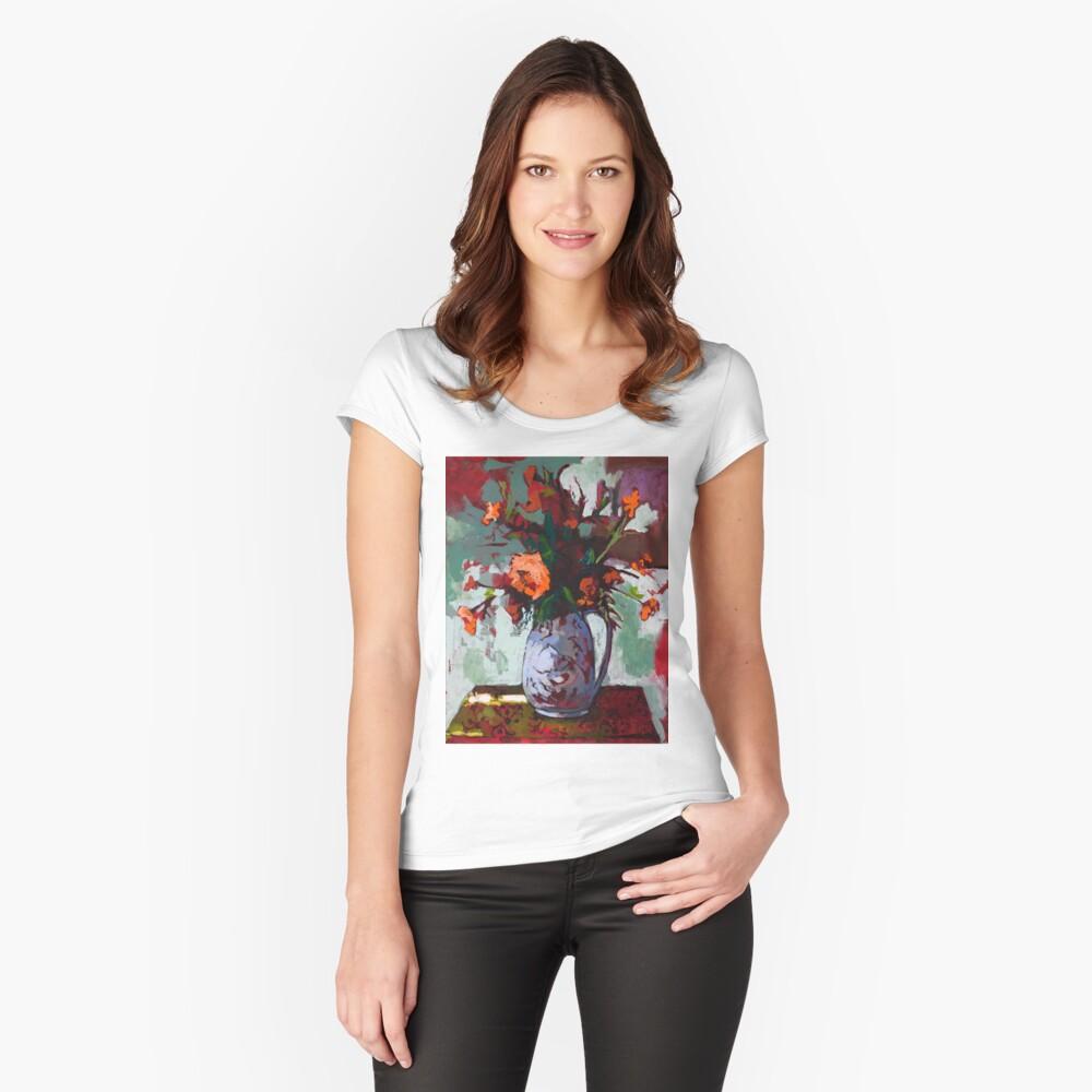 Marigolds Gone Wild Fitted Scoop T-Shirt