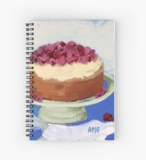 Raspberry Cream Cake Spiral Notebook
