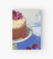 Raspberry Cream Cake Hardcover Journal
