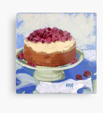 Raspberry Cream Cake Metal Print