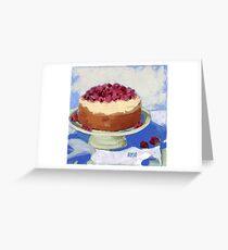 Raspberry Cream Cake Greeting Card