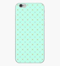 Duck Egg Blue with Crowns iPhone Case