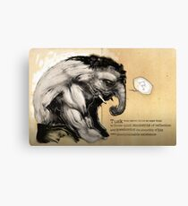 Tusk, the Elephant Man Canvas Print