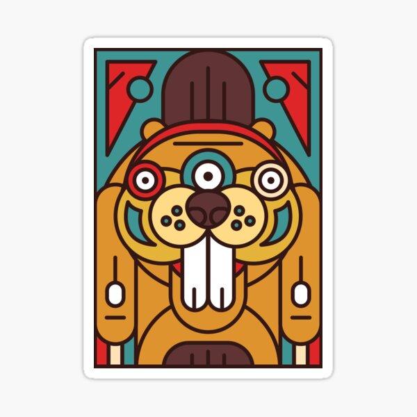 Totemonster - Beaver - Animal Monster Native Americans Totem Sticker