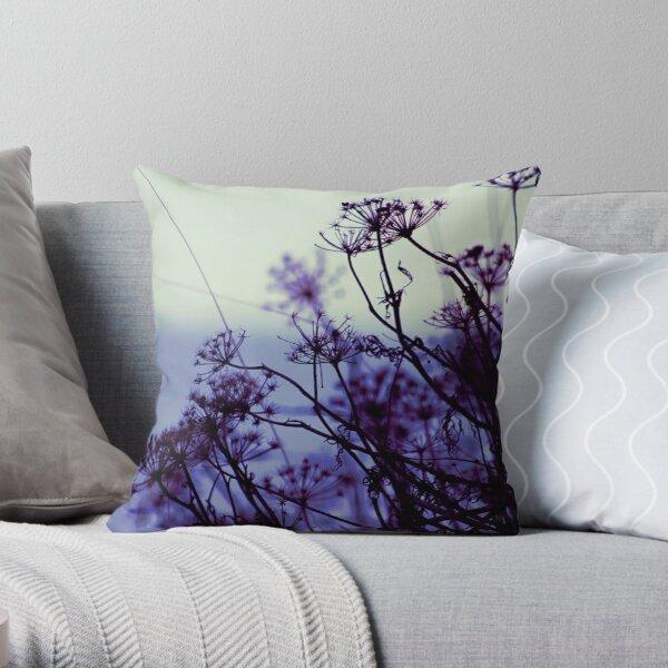 Dusk botanical Throw Pillow