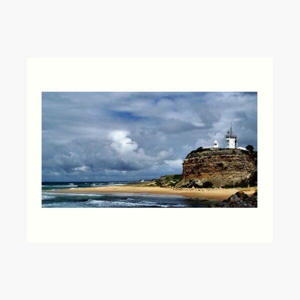 Nobby's Beach Lighthouse Art Print