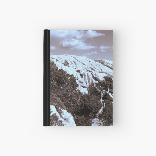 MOUNTAINS in Sepia tone Hardcover Journal