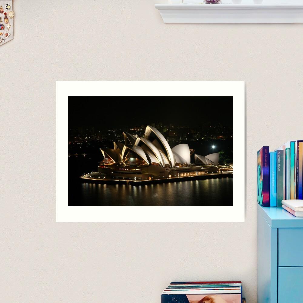 Opera House at Night, Sydney, Australia Art Print