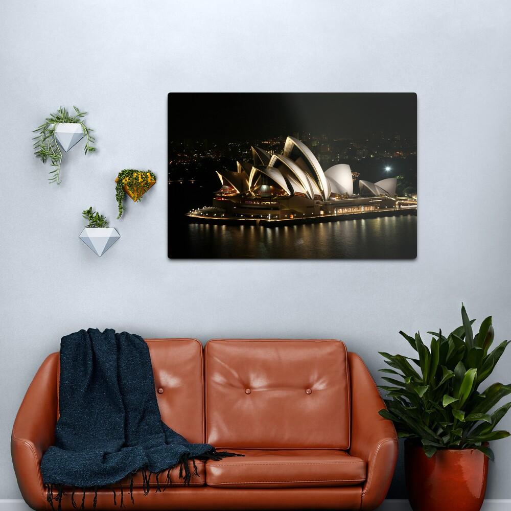 Opera House at Night, Sydney, Australia Metal Print