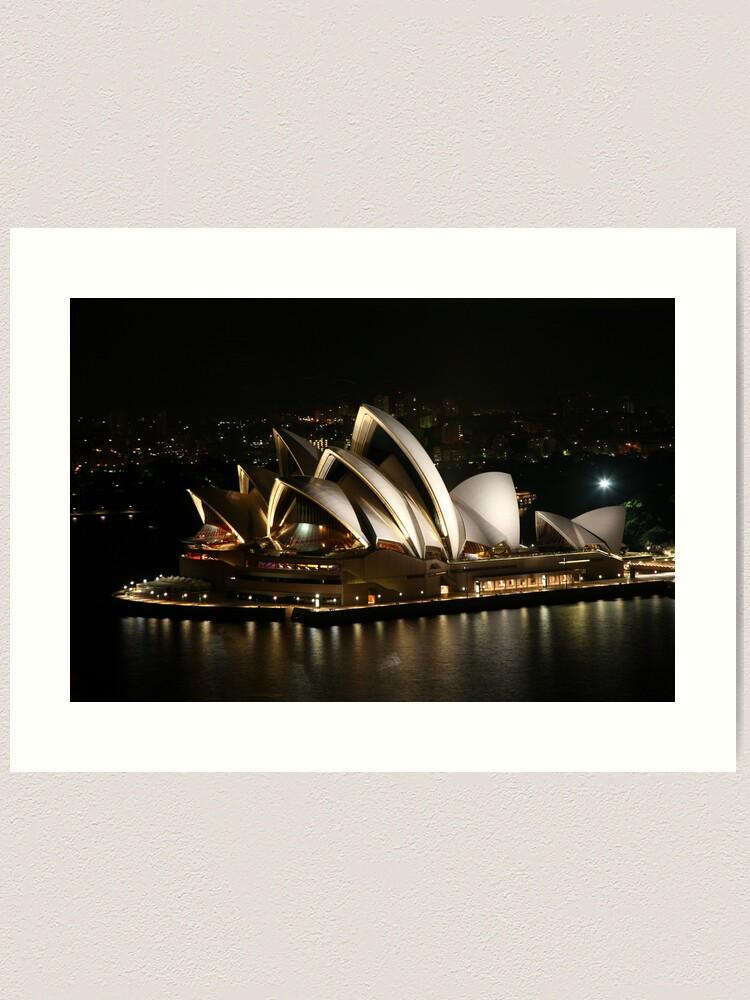 Alternate view of Opera House at Night, Sydney, Australia Art Print