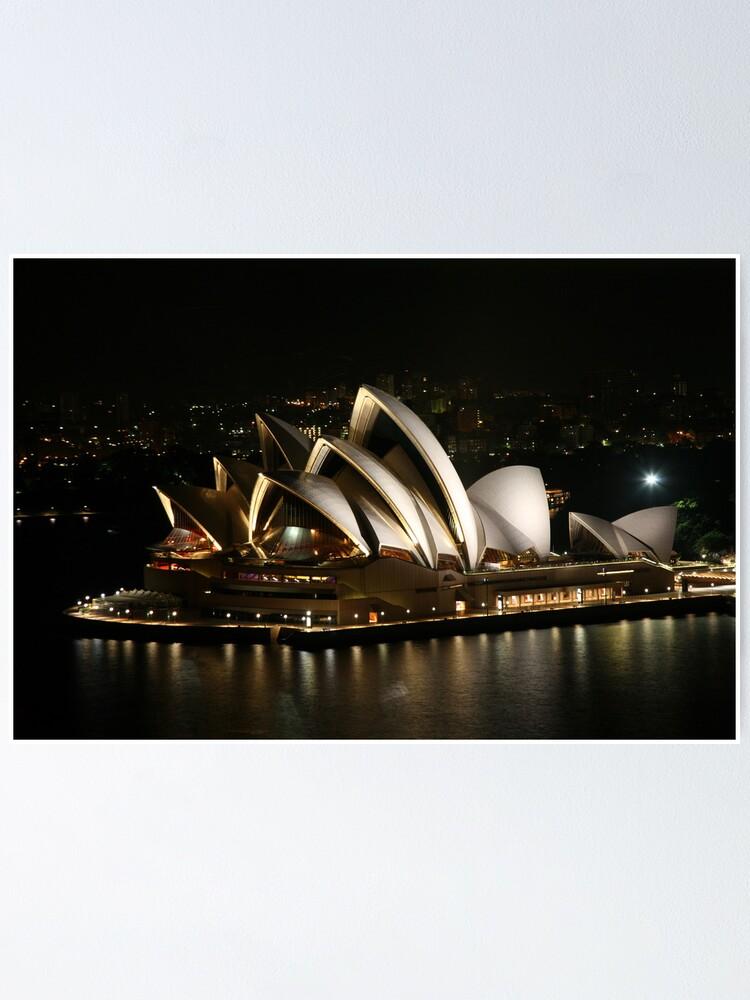 Alternate view of Opera House at Night, Sydney, Australia Poster