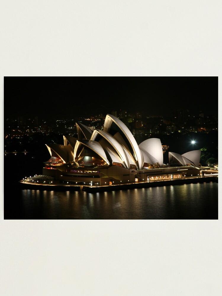 Alternate view of Opera House at Night, Sydney, Australia Photographic Print
