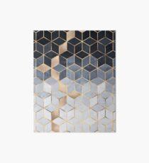 Soft Blue Gradient Cubes Art Board Print