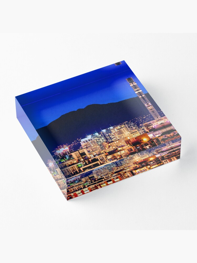 Alternate view of Shangri La Hotel and Vancouver Grousse Mountain Canada Acrylic Block