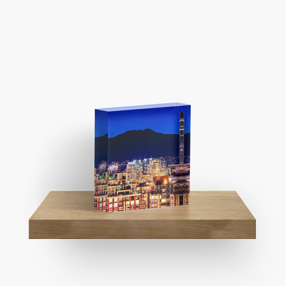 Shangri La Hotel and Vancouver Grousse Mountain Canada Acrylic Block