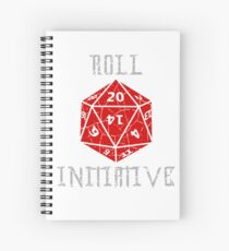 Roll Initiative Dungeons & Dragons gift idea Spiral Notebook
