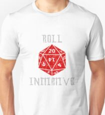 Roll Initiative Dungeons & Dragons gift idea Slim Fit T-Shirt