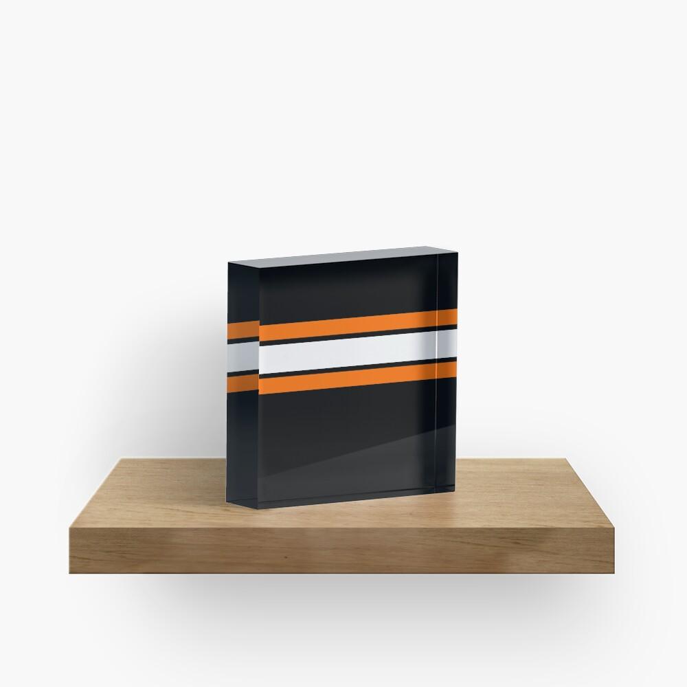 Team Colors 2....Orange, white and black Acrylic Block