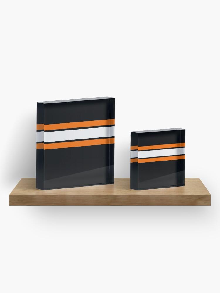 Alternate view of Team Colors 2....Orange, white and black Acrylic Block