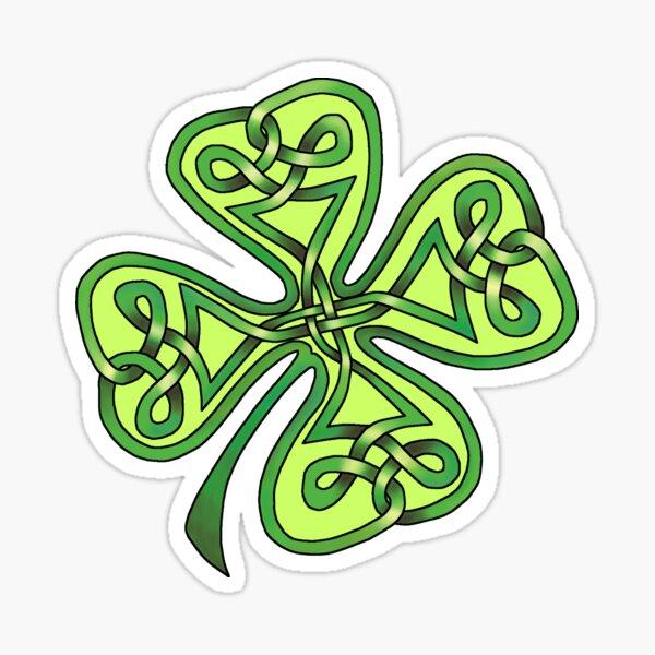 Celtic Knot Four-Leaf-Clover Sticker